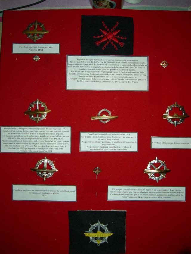 [ Logos - Tapes - Insignes ] Collection de rubans légendés de sous-marin et brevets SM Gra110