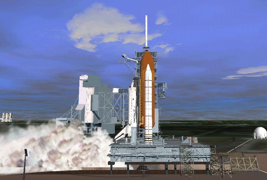 Orbiter 2006: rentrée du STS Shuttl10