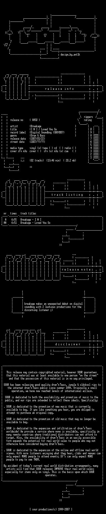 [DnB] Breakage - SBOY007 - Digital Soundboy Sboy0010