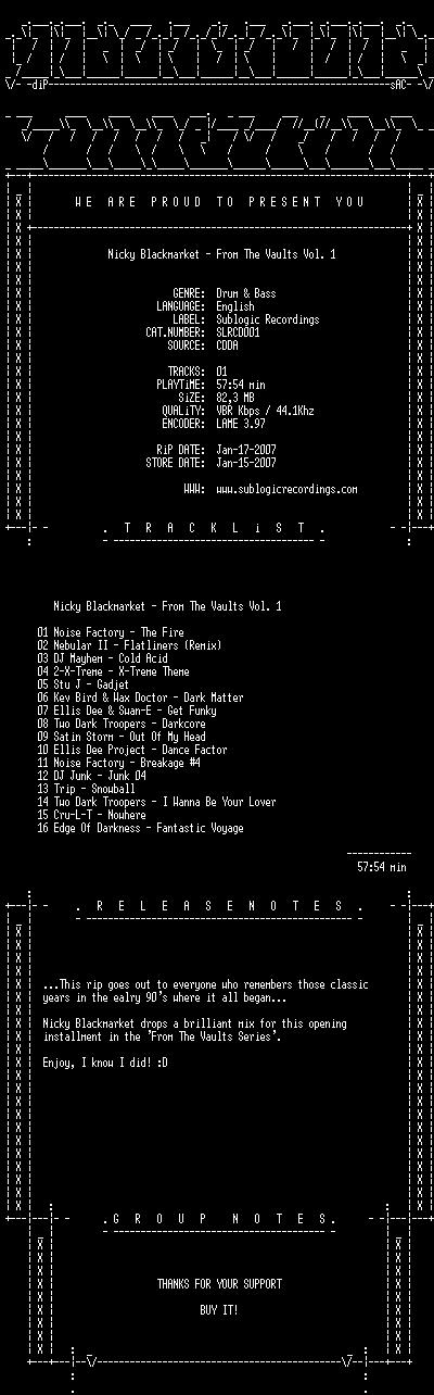 [DnB] Various Artists - SLRCD001 - Sublogic Rec. Slrcd010