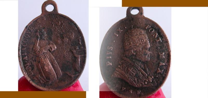 Medaille religieuse Pie IX Sans_t23