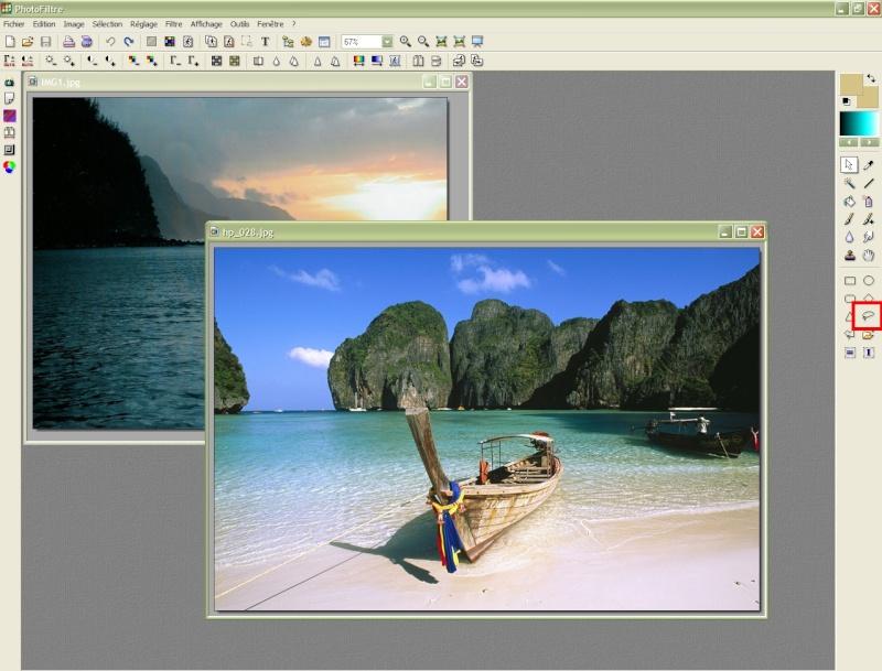 Comment insérer une image sur une autre avec Photofiltre Photof18