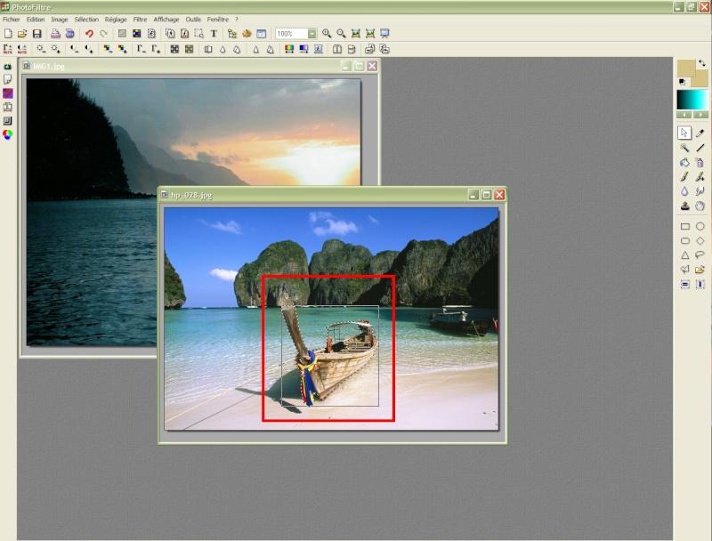 Comment insérer une image sur une autre avec Photofiltre Photof20