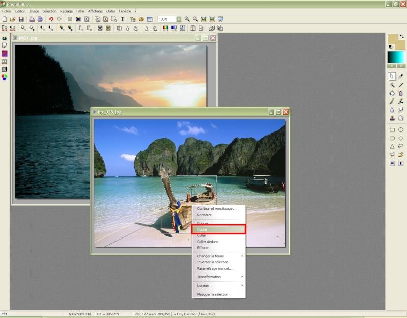 Comment insérer une image sur une autre avec Photofiltre Photof21