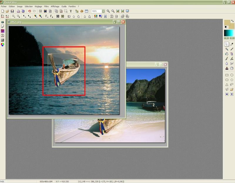 Comment insérer une image sur une autre avec Photofiltre Photof22