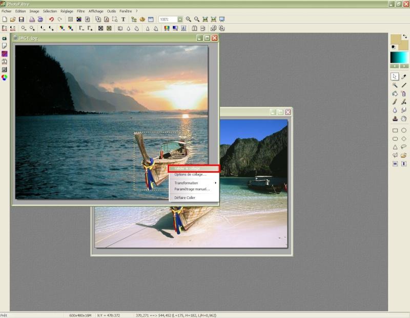 Comment insérer une image sur une autre avec Photofiltre Photof23