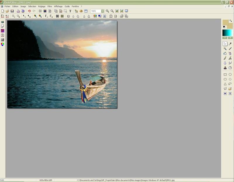Comment insérer une image sur une autre avec Photofiltre Photof24