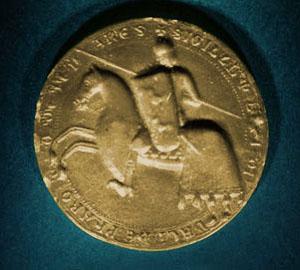 Plomo monetiforme o precinto: caballo Sello10