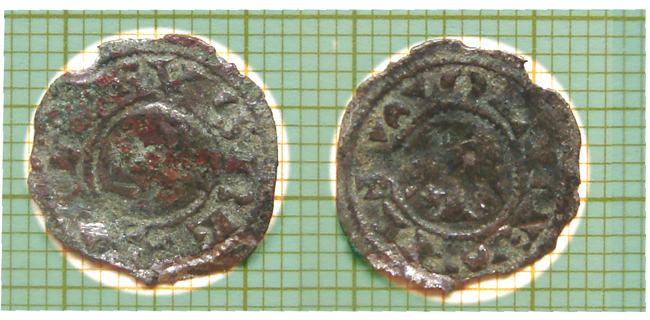 Dinero de Alfonso VIII (1158-1214 d.c) Obolo10