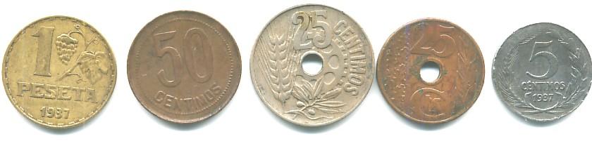 Varias monedas de la II República Española Republ11