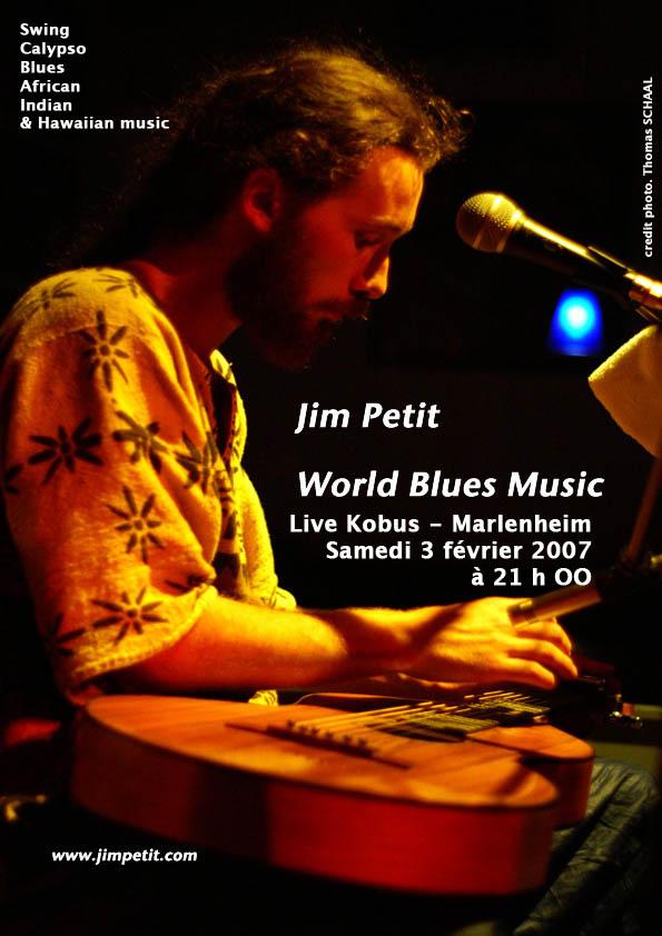Jim Petit en concert au Kobus Affich10