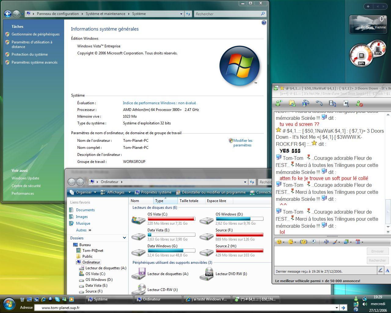 Windows VISTA : Distribution Officiel Vistap10