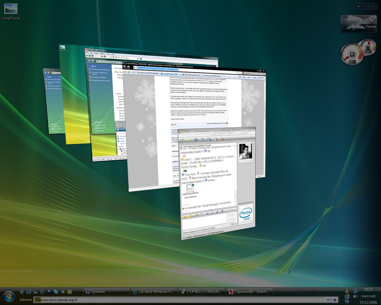 Windows VISTA : Distribution Officiel Vistap11