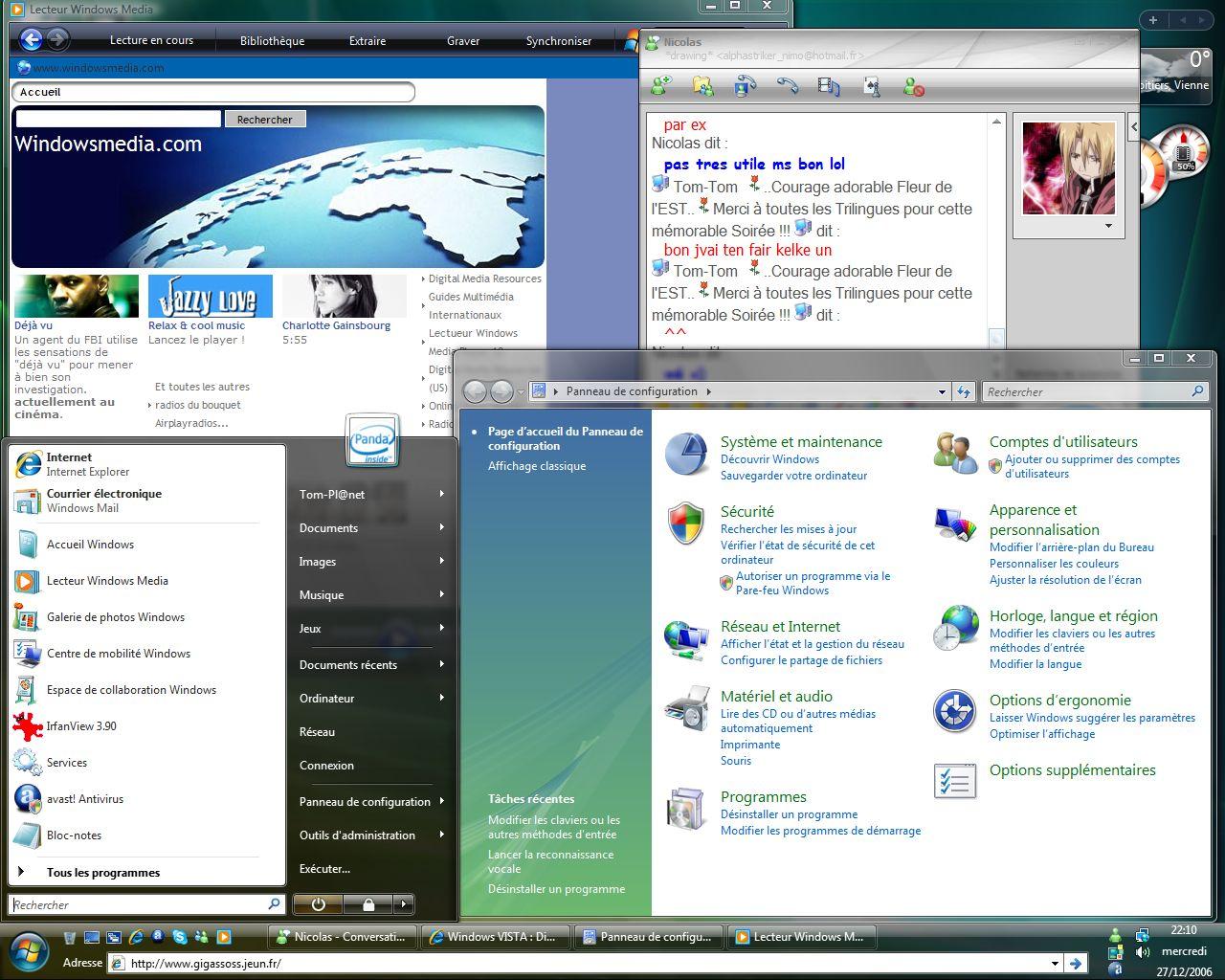 Windows VISTA : Distribution Officiel Vistap12