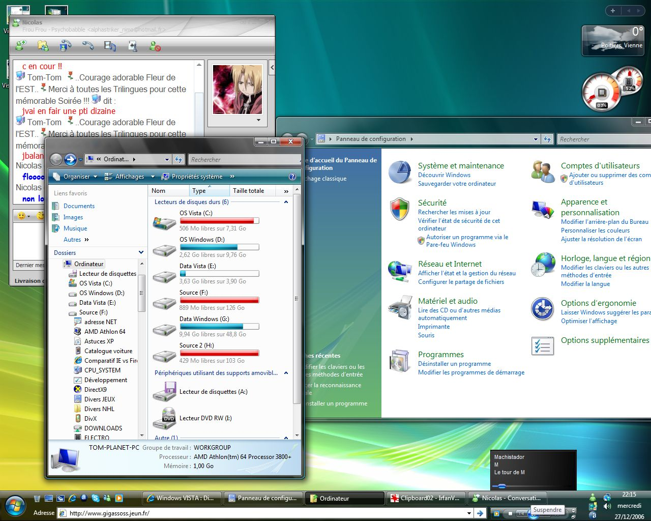 Windows VISTA : Distribution Officiel Vistap14