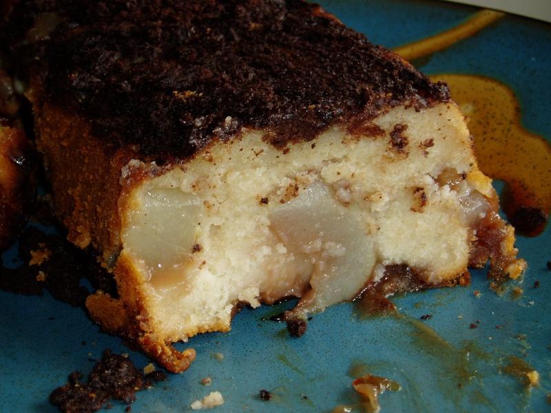 Cake poire & crème de marron P1010111