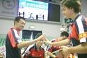 Timo Boll participando en la Liga China