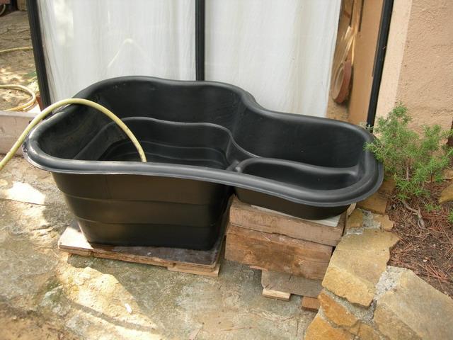 Notre bassin pour tortues - Construire bassin poisson hors sol ...