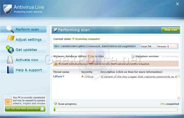 Antivirus Live Screenshot