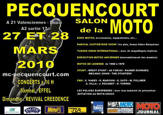 Salon de la moto de pecquencourt 2010 for Salon pecquencourt