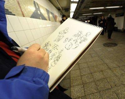 L'artiste de gare dans MOMENT DE VIE portai10