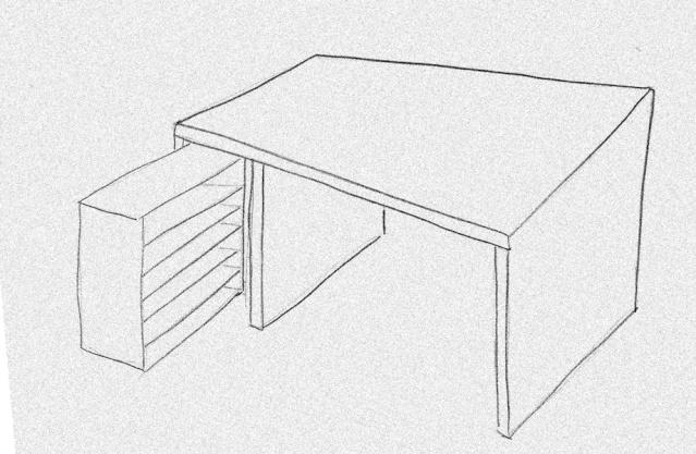comment dessiner un bureau. Black Bedroom Furniture Sets. Home Design Ideas