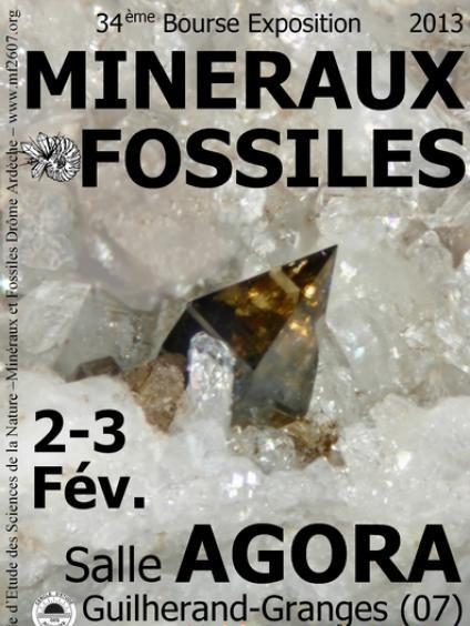 34ieme bourse min raux et fossiles guilherand grange 07 le 2 et 3 fevrier 2013 conf rences - Agora guilherand granges ...